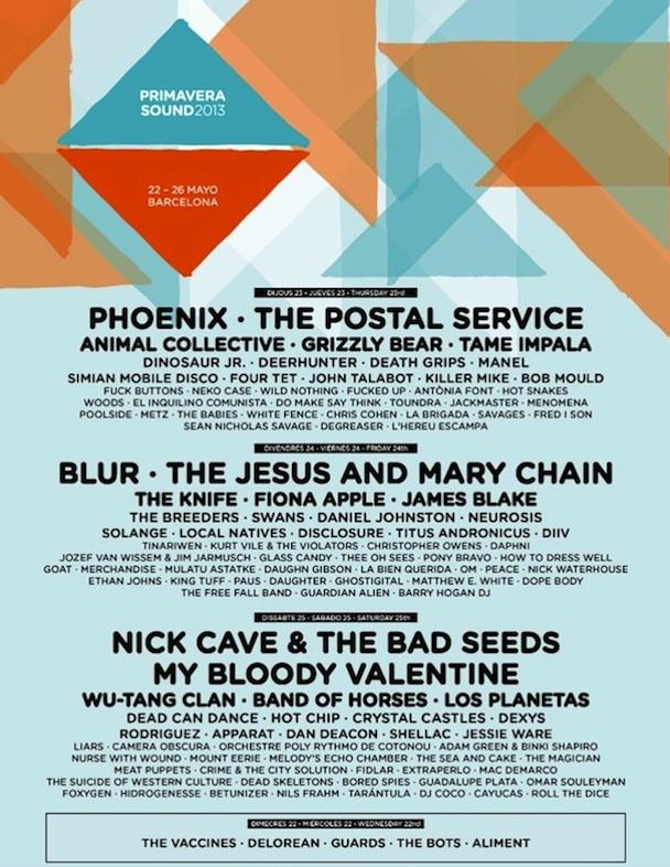 Primavera Sound 2013 Lineup