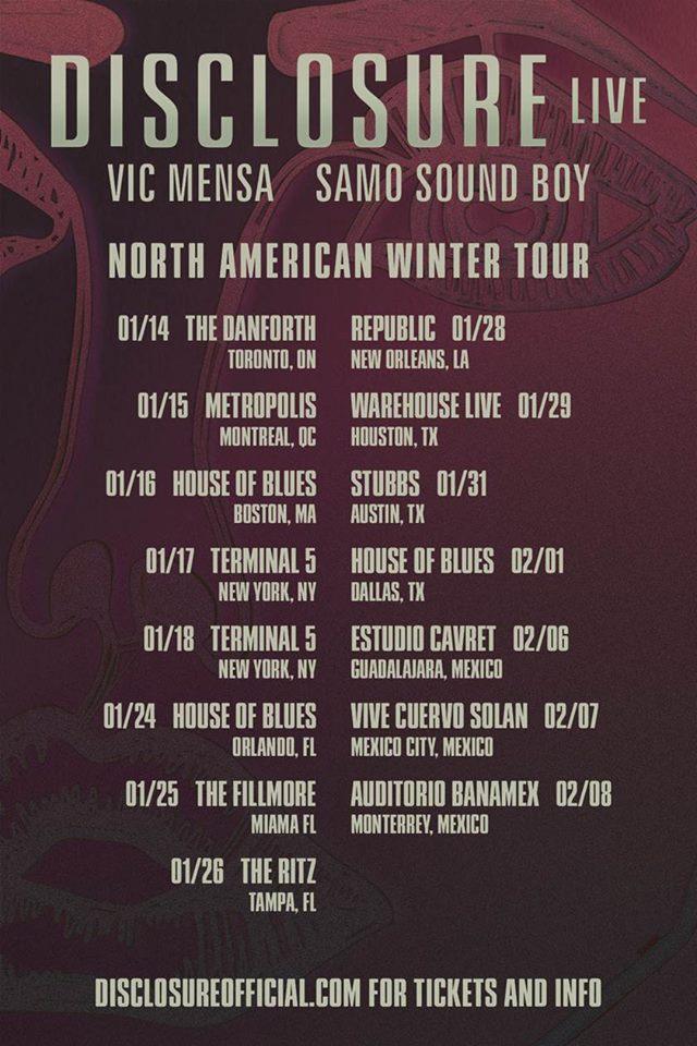 disclosure north america winter tour 2013
