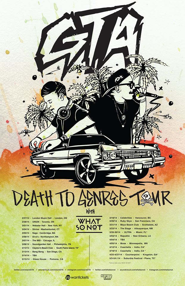 GTA Death To Genres Tour