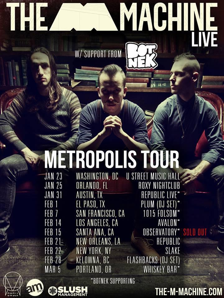 The M Machine Metropolis Tour Dates