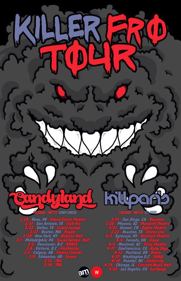 Killer Fro Tour Dates