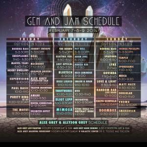 Gem and Jam 2014 Schedule