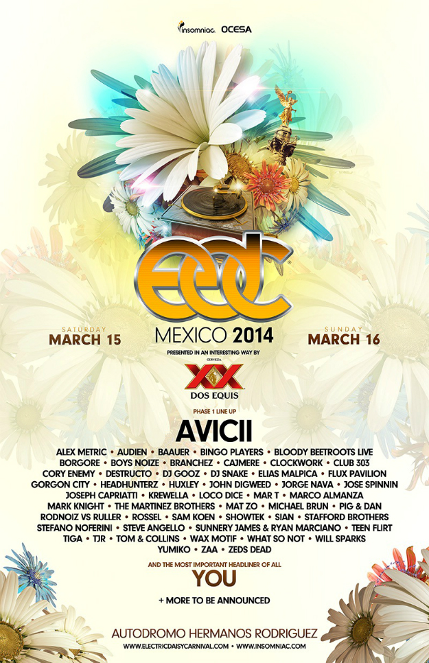Insomniac Announces EDC Mexico Lineup