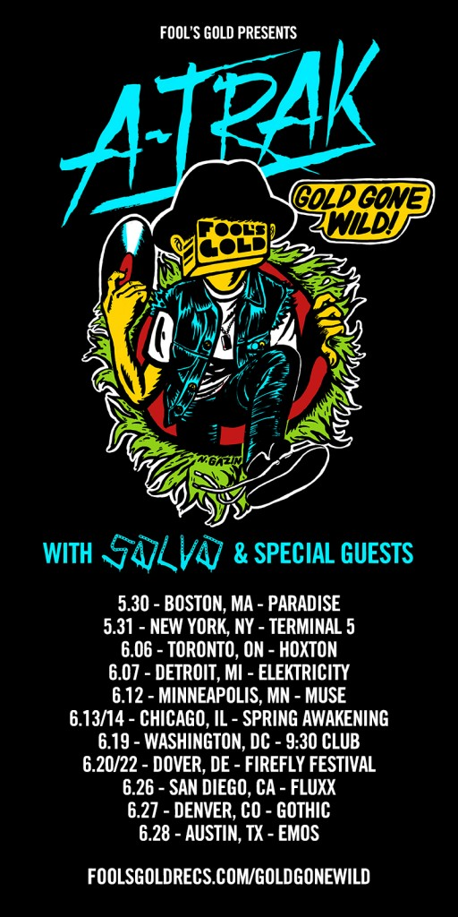A-Trak Gold Gone Wild! Tour 2014