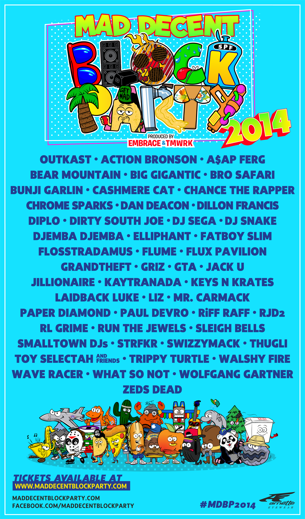 Mad Decent Block Party 2014 Lineup