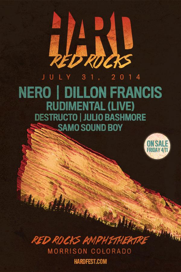 HARD Red Rocks 2014 lineup, tickets, VIP