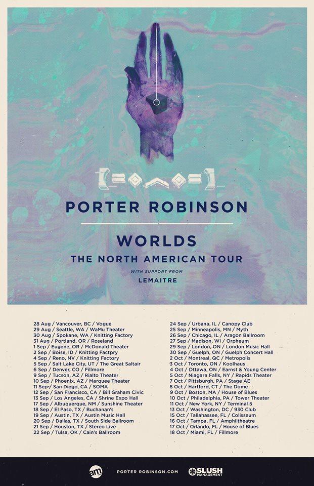 porter robinson tour dates 2014