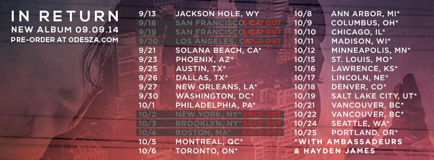 odesza 2014 tour